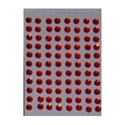 Kryształki samoprzylepne czerwone 4 mm