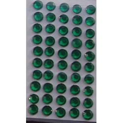 Kryształki samoprzylepne ciemnozielone 5 mm