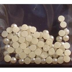 Półperełki 4 mm ok. 100 szt kremowe