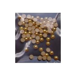 Półperełki 4 mm ok. 100 szt złociste