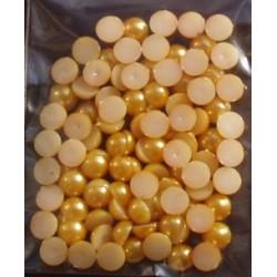 Półperełki 6 mm ok. 100 szt złociste