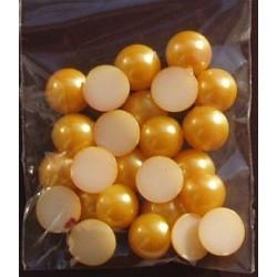 Półperełki 10 mm 25 szt złociste