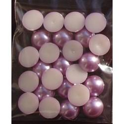 Półperełki 10 mm 25 szt liliowe