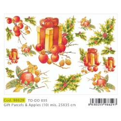 Papier Artistico Mini Gifts parcels & apples par 25X35 035