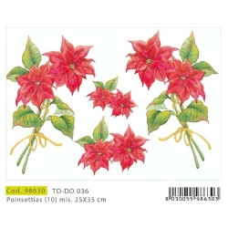 Papier Artistico Mini Poinsettias 25X35 036