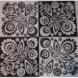 Serwetki do decoupage - ludowe wycinanki black&white