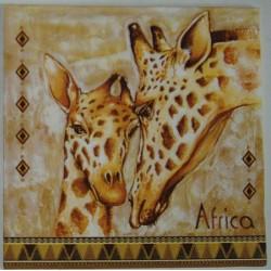 Serwetki do decoupage - dwie żyrafy