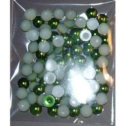 Półperełki 6 mm ok. 100 zielone
