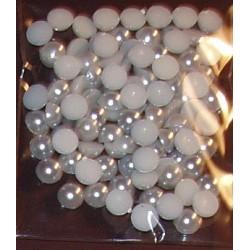 Półperełki 6 mm ok. 100 srebrne-błyszczące