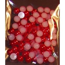 Półperełki 6 mm ok. 100 czerwone