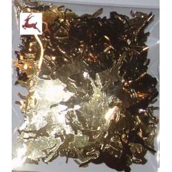 Elementy z alu folii renifery złote