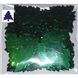 Elementy z alu folii choinki zielone