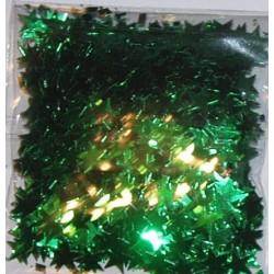 Elementy z alu folii gwiazdki zielone