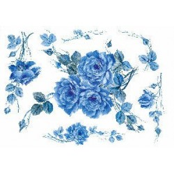 Papier ryżowy Renkalik do decoupage 085 Rose Blu
