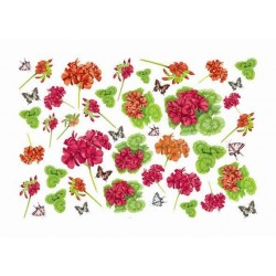 Papier Artistico Mini Hidrangenas & butterflies 25X35 042