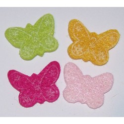 Elementy samoprzylepne z filcu cztery motylki