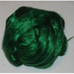 Jedwab do filcowania 10 g - ciemno-zielony
