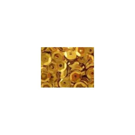 Cekiny metaliczne ciemno-złote 6gr