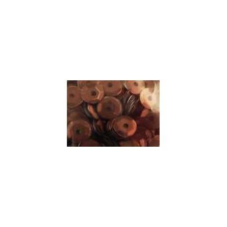 Cekiny metaliczne brązowe matowe 6gr