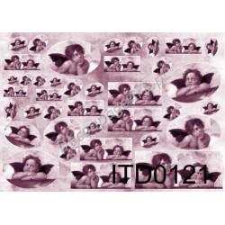 Papier do decoupage ITD 121 - Rafaelki fiolet