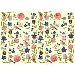 Papier do decoupage ITD 002 - Kwiatki i ptaszki