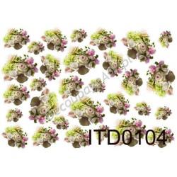 Papier do decoupage ITD 104 - Wiązanki róż