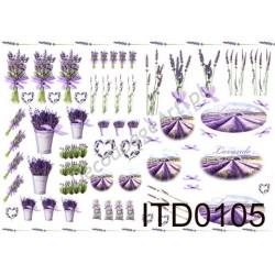 Papier do decoupage ITD 105 - Lawenda