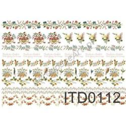 Papier do decoupage ITD 112 - Ornamenty bukiecikowe