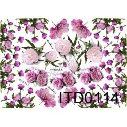 Papier do decoupage ITD 114 - Piwonie