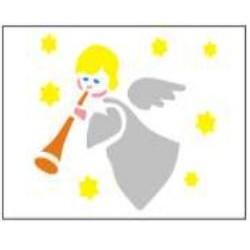 Szablon GH 12 x 15 cm - 34 aniołek z trąbką