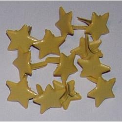 Ćwieki metalowe gwiazdki żółte 14mm 12 sztuk