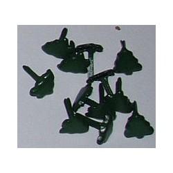 Ćwieki metalowe choinki małe 8mm 15 sztuk