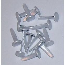 Ćwieki metalowe klasyczne brokatowe białe 8mm 15 sztuk