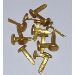 Ćwieki metalowe klasyczne brokatowe złote 8mm 15 sztuk