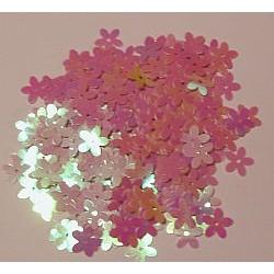 Cekiny kwiatki opalizujące 26 jasno-różowe 6gr