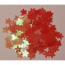 Cekiny kwiatki opalizujące 20 czerwone 6gr