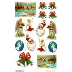 Papier ryżowy Decoudesigns do decoupage Boże Narodzenie 05