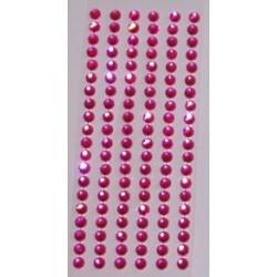 Bordiura samoprzylepna z kryształków różowa