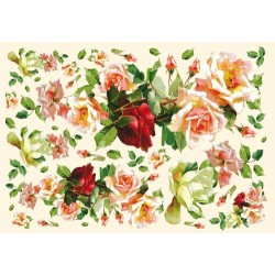 Papier ryżowy do decoupage DFS130 - Rose moderne