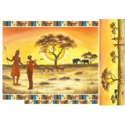 Papier ryżowy do decoupage DFS136 - Tramonto con Masai