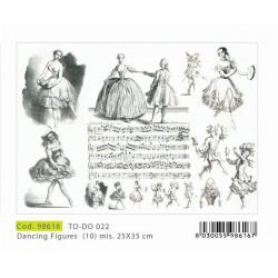 Papier Artistico Mini Dancing Figures 25X35 022