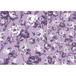 Papier do decoupage ITD 052 - Róże w fioletach