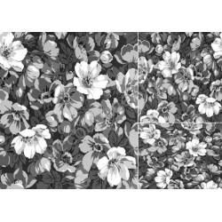 Papier do decoupage ITD 057 - Anemony monochromatyczne