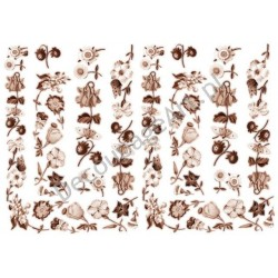 Papier do decoupage ITD 066 - Wiosenne kwiatki w sepii