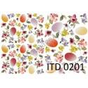 Papier do decoupage ITD 201 - Pisanki i delikatne kwiatki