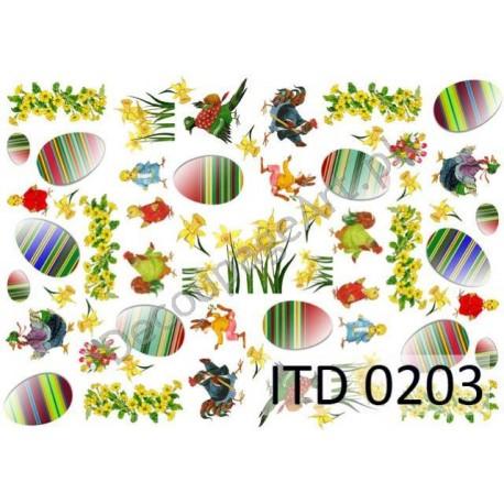 Papier do decoupage ITD 203 - Pisanki w paski