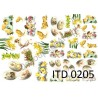 Papier do decoupage ITD 205 - Pisanki i kurczaczki
