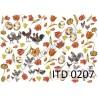 Papier do decoupage ITD 207 - Koguty i tulipany