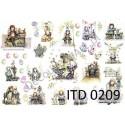 Papier do decoupage ITD 209 - Wielkanocne aniołki Dorotki