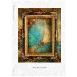 Papier ryżowy Kalit do decoupage album0028 Niebieski motyl
